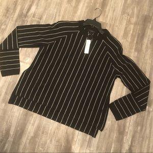 J Crew Small Black and White striped sweater